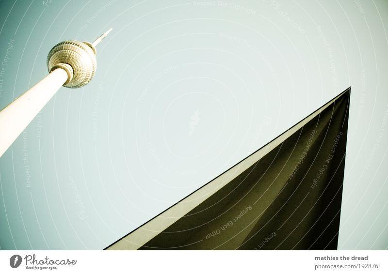 FERNSEHTURM Architektur Gebäude hoch Zukunft Technik & Technologie Telekommunikation Bauwerk Kugel Schönes Wetter Berlin Berlin-Mitte Geometrie Hauptstadt