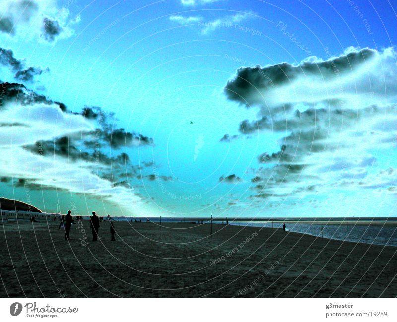 Chroma Sonne blau Strand Wolken Europa Insel Bildbearbeitung Spiekeroog