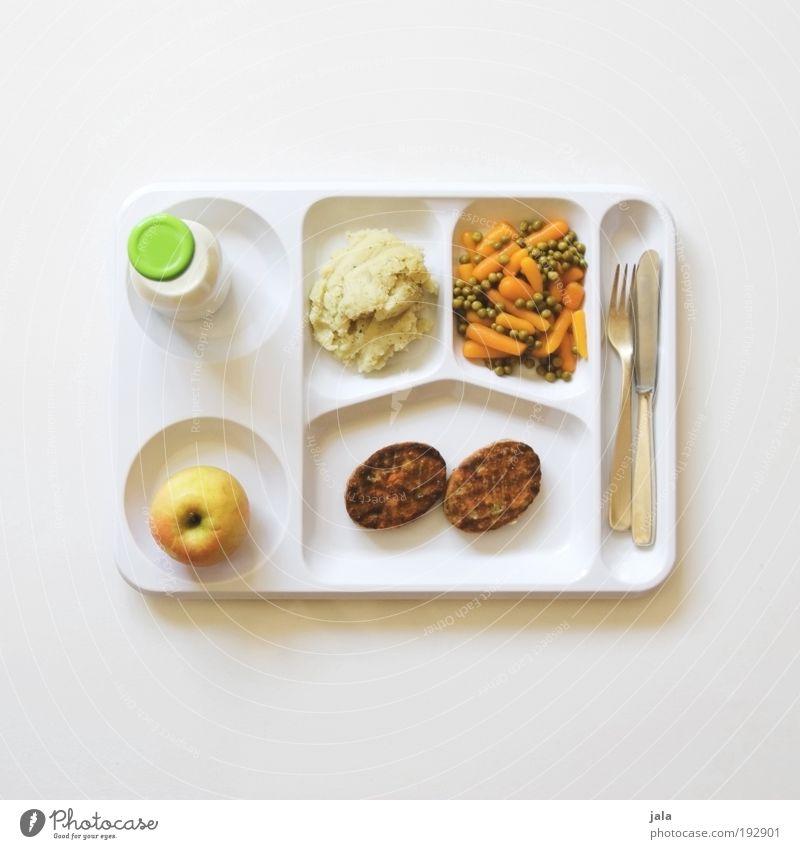Der Hunger treibt's rein... weiß Ernährung Lebensmittel Speise Gesundheit Frucht Pause Getränk Sauberkeit Gemüse lecker Fleisch Diät Mittagessen Besteck Möhre