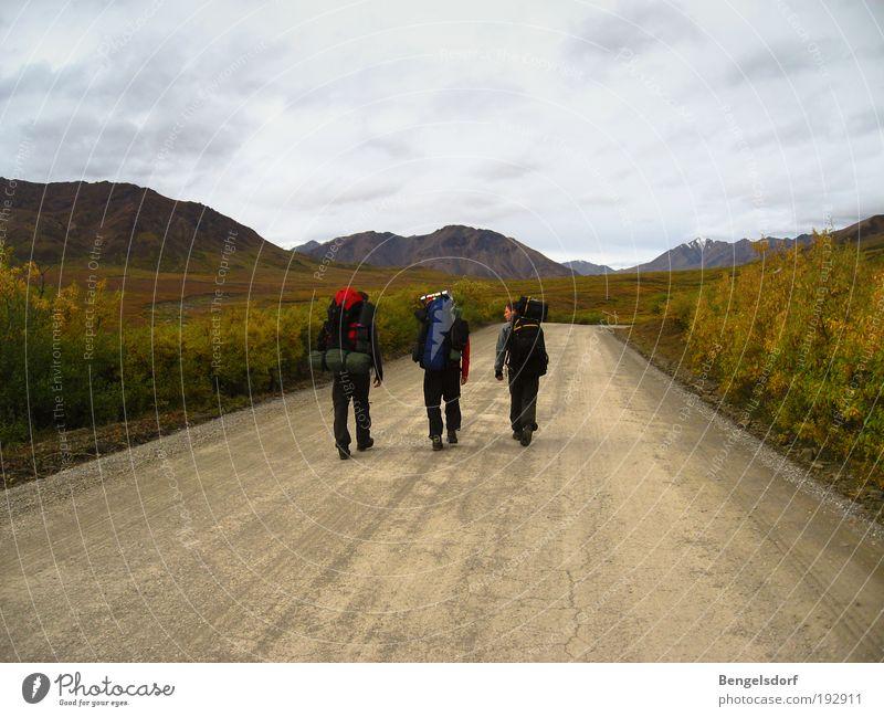 Letzte Straße Richtung Nordwest Mensch Ferien & Urlaub & Reisen ruhig Ferne Leben Berge u. Gebirge Freiheit wandern Ausflug Abenteuer Tourismus Freizeit & Hobby