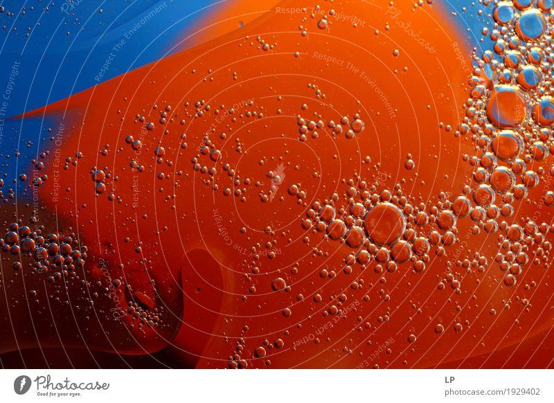 Blasen auf orange und blauem Hintergrund Erholung ruhig Freude Leben Lifestyle sprechen Innenarchitektur Hintergrundbild Business Erde Stimmung Freizeit & Hobby