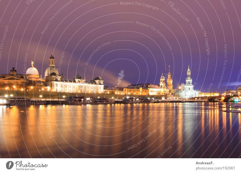 Dresden Stadt Winter Gebäude Eis Architektur Frost Kirche Fluss Kultur Burg oder Schloss Skyline Bauwerk Stadtzentrum