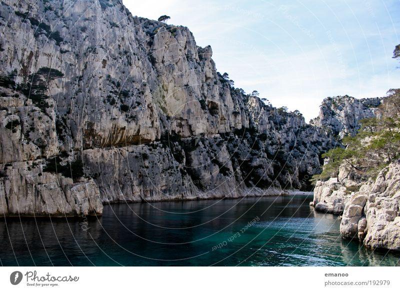 Calanques Ferien & Urlaub & Reisen Freiheit Sommer Sommerurlaub Sonne Strand Meer Umwelt Natur Landschaft Wasser Schönes Wetter Felsen Küste Bucht Fjord schön