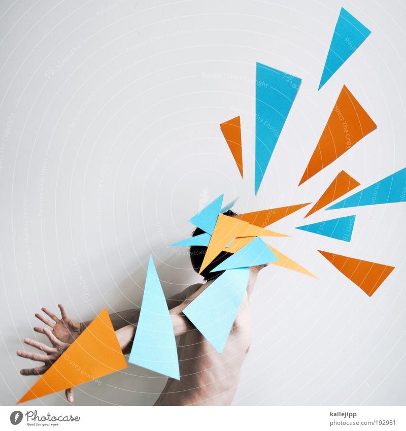 papiermonster Mensch Mann Erwachsene sprechen Kunst Körper Tanzen maskulin leuchten Flügel Kommunizieren Spitze Schmerz schreien kämpfen Künstler