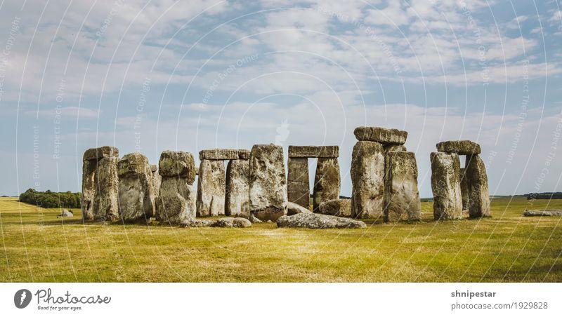 Stonehenge Ferien & Urlaub & Reisen Tourismus Ausflug Städtereise Sommerurlaub Kunst Skulptur Kultur Landschaft Himmel Amesbury Salisbury England Großbritannien