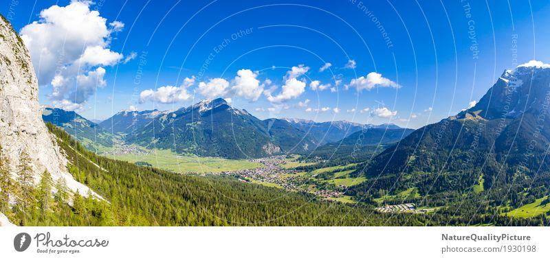 panoramic - ehrwald - tyrol - austria Natur Pflanze blau Sommer grün schön Baum Landschaft Erholung Einsamkeit ruhig Wald Berge u. Gebirge Umwelt Leben