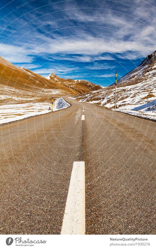 albulapass - graubuenden - switzerland Himmel Natur Ferien & Urlaub & Reisen Landschaft Erholung Einsamkeit Wolken Winter Ferne Berge u. Gebirge Straße Umwelt