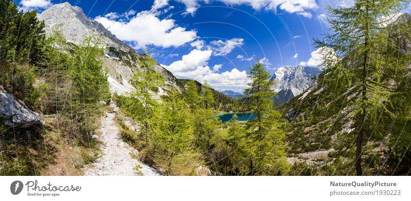 seebensea - tyrol - austria Himmel Natur Ferien & Urlaub & Reisen Pflanze blau grün Wasser Baum Landschaft Erholung Einsamkeit Wolken ruhig Freude Ferne Wald