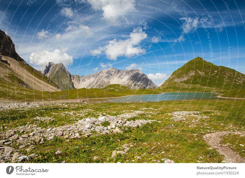 seewiesea - lechvelley - austria Himmel Natur Ferien & Urlaub & Reisen Pflanze Sommer Farbe Wasser Landschaft Blume Erholung Einsamkeit Wolken ruhig Ferne