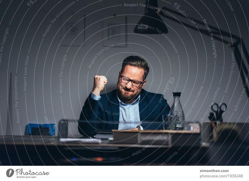Yes Mensch Glück Business maskulin Zufriedenheit Kraft Erfolg Beginn Energie Macht Geld Leidenschaft Mut Reichtum Karriere Euphorie