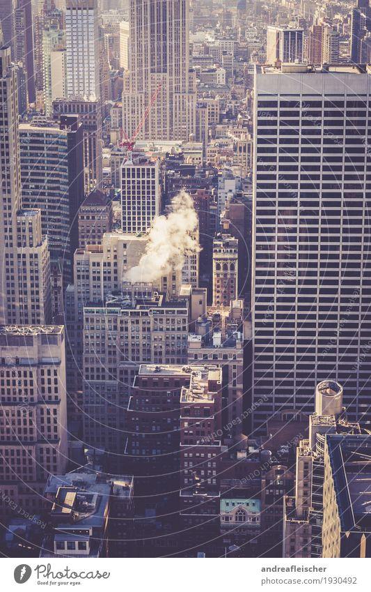 All The Way Up. New York, New York Ferien & Urlaub & Reisen Tourismus Ausflug Ferne Freiheit Sightseeing Städtereise Winter Haus Leben New York City Amerika