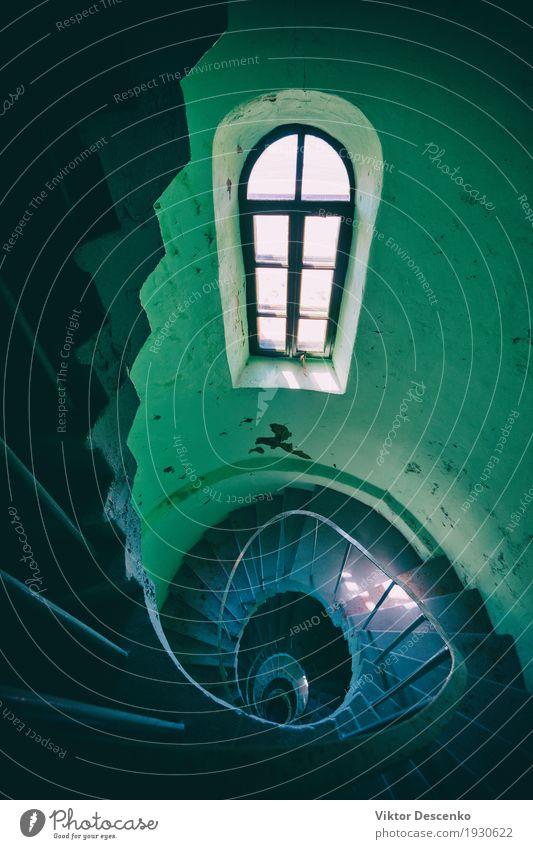Alter Leuchtturm an den Ufern der Ostsee Ferien & Urlaub & Reisen alt weiß Haus Architektur Gebäude Kunst Stein Design Metall Perspektive hoch Unendlichkeit