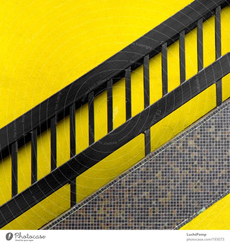 A Tribute to .marqs Grafik u. Illustration Grafische Darstellung Treppe Treppengeländer gelb knallig Fliesen u. Kacheln schwarz aufsteigen hochlaufen aufwärts