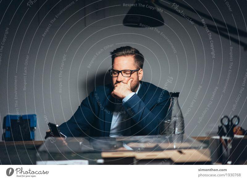 Business Mann Erwachsene Leben sprechen Denken Arbeit & Erwerbstätigkeit maskulin Büro Kommunizieren Technik & Technologie Erfolg Telekommunikation Zukunft