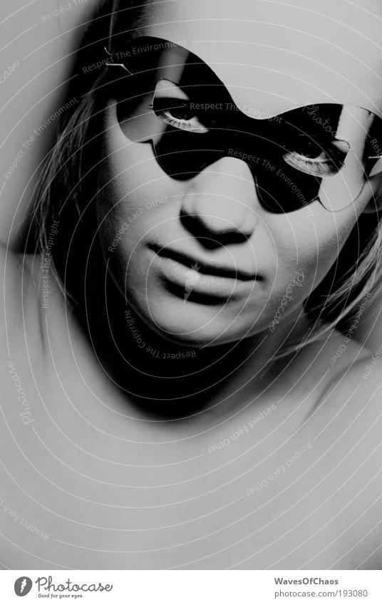 Through the Surface Mensch feminin Leben Kopf Stil Zufriedenheit Haut Coolness einzigartig Brille außergewöhnlich Maske geheimnisvoll fantastisch skurril