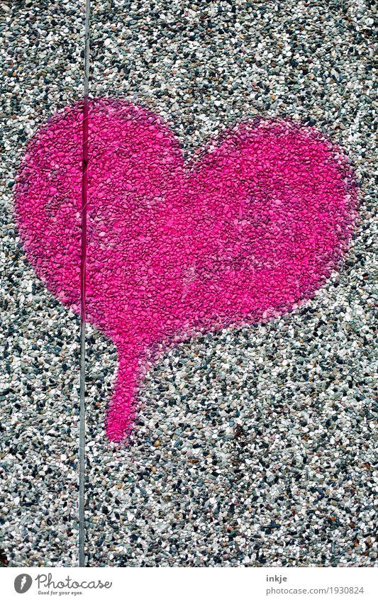 Herz auf Stein Lifestyle Menschenleer Mauer Wand Fassade Zeichen Graffiti rosa rot Gefühle Frühlingsgefühle Liebe Verliebtheit Romantik Farbfoto Außenaufnahme