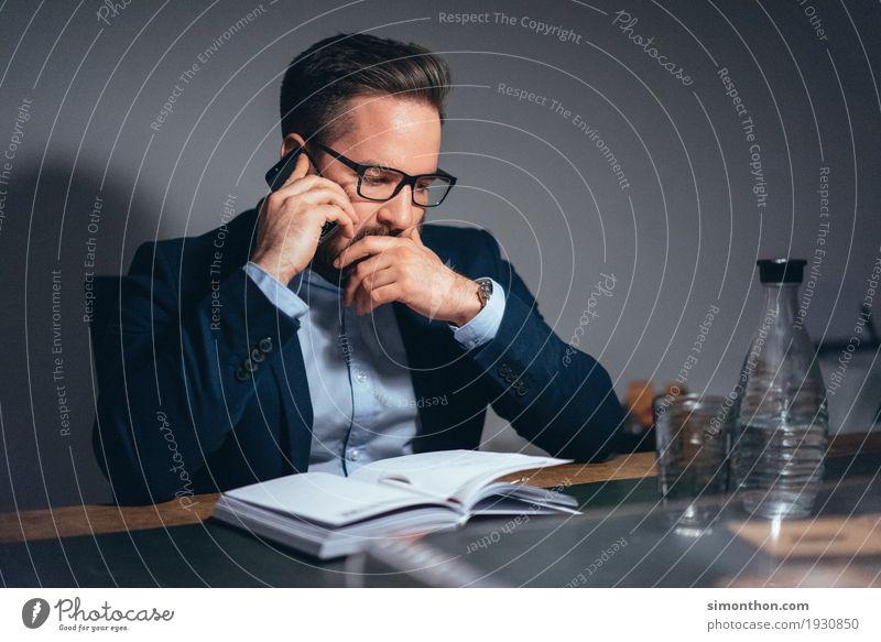 Business Mensch sprechen Stil Denken Arbeit & Erwerbstätigkeit maskulin Kommunizieren Technik & Technologie Erfolg Telekommunikation planen Telefon Team Kontakt