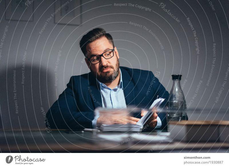 Business Bildung Erwachsenenbildung lernen Karriere Erfolg maskulin Bart 1 Mensch Überraschung Entsetzen Zukunftsangst Stress Verzweiflung Unglaube Nervosität
