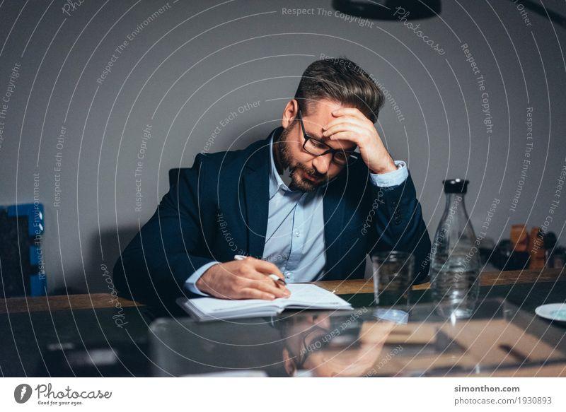 Business Mensch ruhig maskulin Büro Kraft Kreativität lernen Studium planen Bildung Erwachsenenbildung Student Konzentration Karriere Langeweile