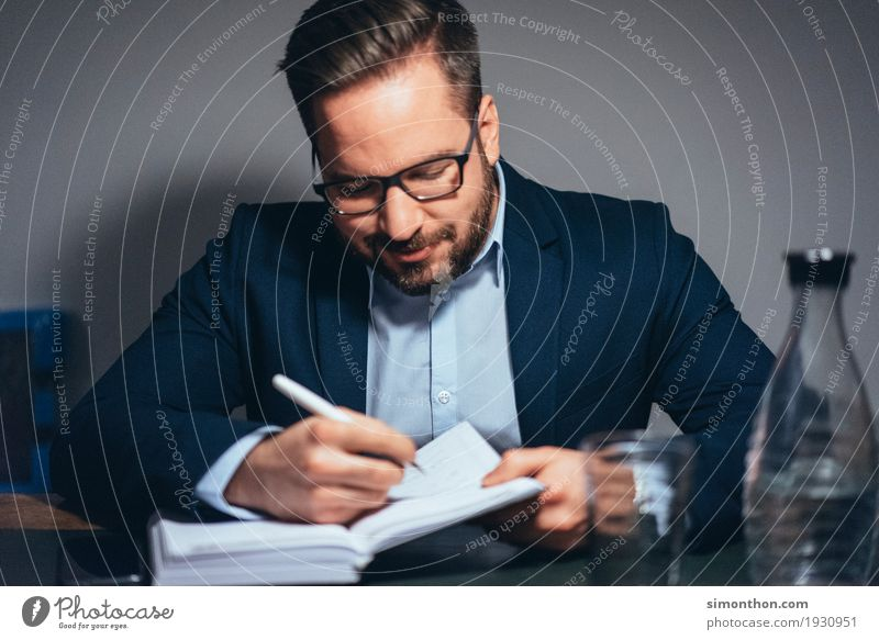 Business Mensch Erwachsene Leben sprechen maskulin Büro Erfolg Zukunft lernen Studium planen Ziel Team Bildung Erwachsenenbildung