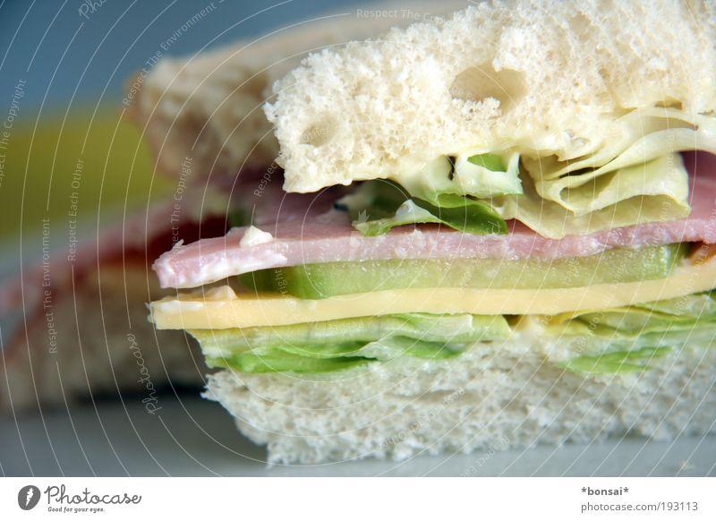 sandwich Ernährung Lebensmittel Geschwindigkeit frisch einfach genießen Gemüse Appetit & Hunger lecker Brot Stapel Käse Vorfreude Salat Salatbeilage Wurstwaren