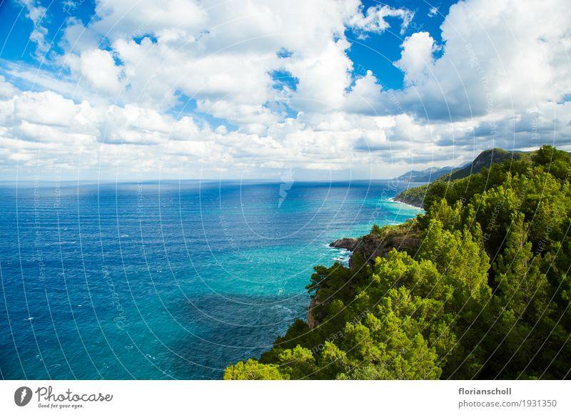 Serra de Tramuntana, Palma de Majorca Himmel Natur Ferien & Urlaub & Reisen Pflanze Sommer Meer Landschaft wandern Insel Klima