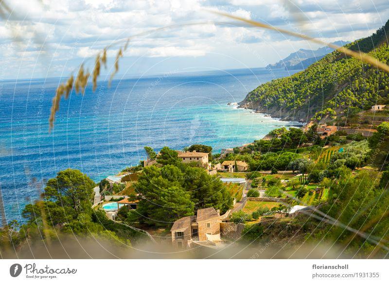 Coast line on Serra de tramuntana, Palma de Majorca Himmel Natur Ferien & Urlaub & Reisen Pflanze blau Sommer grün Landschaft gelb Gras Tourismus genießen Klima