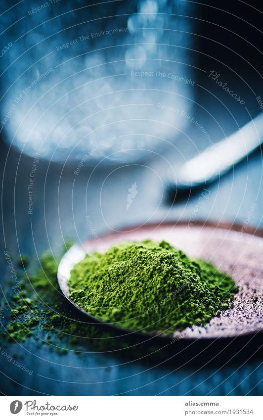 Matcha Tea matcha Tee grün Grüner Tee Getränk Pulver superfood Gesundheit Gesunde Ernährung Makroaufnahme Unschärfe trinken getrocknet genießen Tradition
