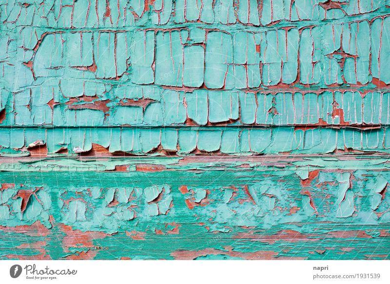 Schicke Struktur Holz alt türkis ästhetisch Vergangenheit Vergänglichkeit Wandel & Veränderung Zeit Strukturen & Formen porös Farben und Lacke splittern