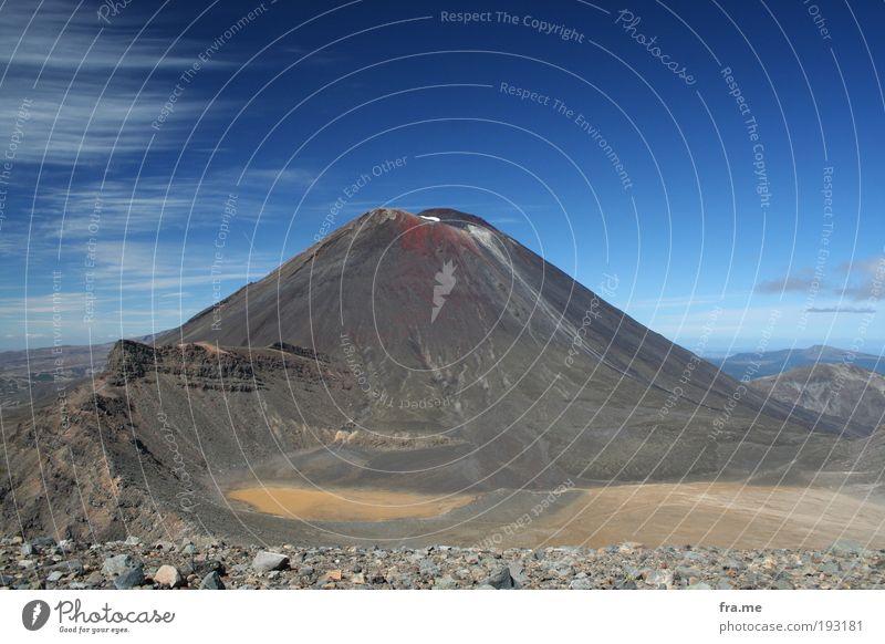 Mt Ngauruhoe aka Mount Doom Ferien & Urlaub & Reisen Ferne Freiheit Berge u. Gebirge Glück Erde Erfolg Urelemente entdecken Schönes Wetter Respekt Vulkan Neuseeland