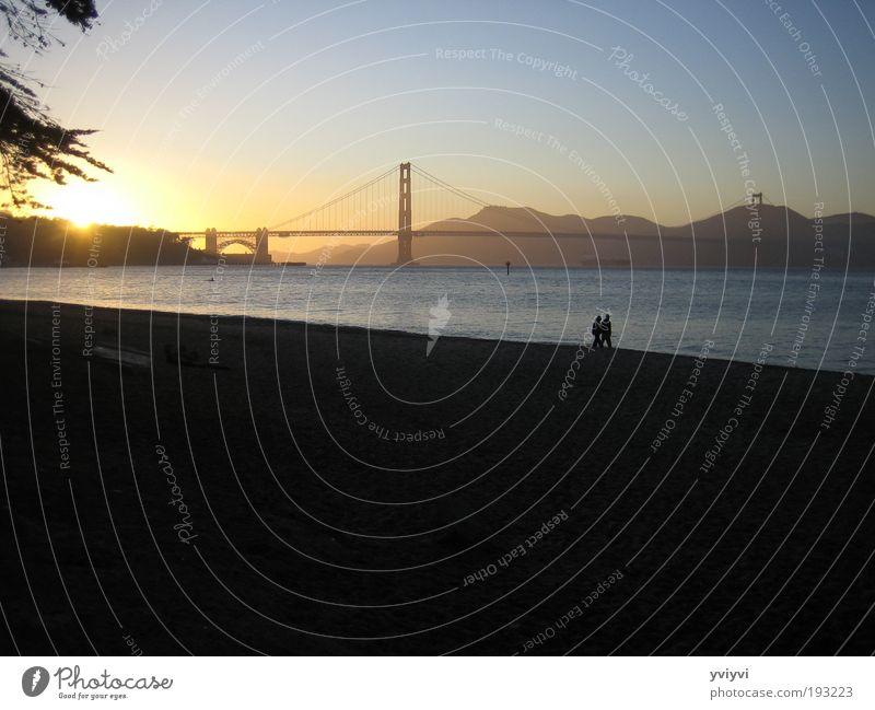 Golden Gate Bridge Gefühle Freundschaft Brücke Warmherzigkeit Sehenswürdigkeit Kalifornien Stadtrand Sonnenuntergang San Francisco