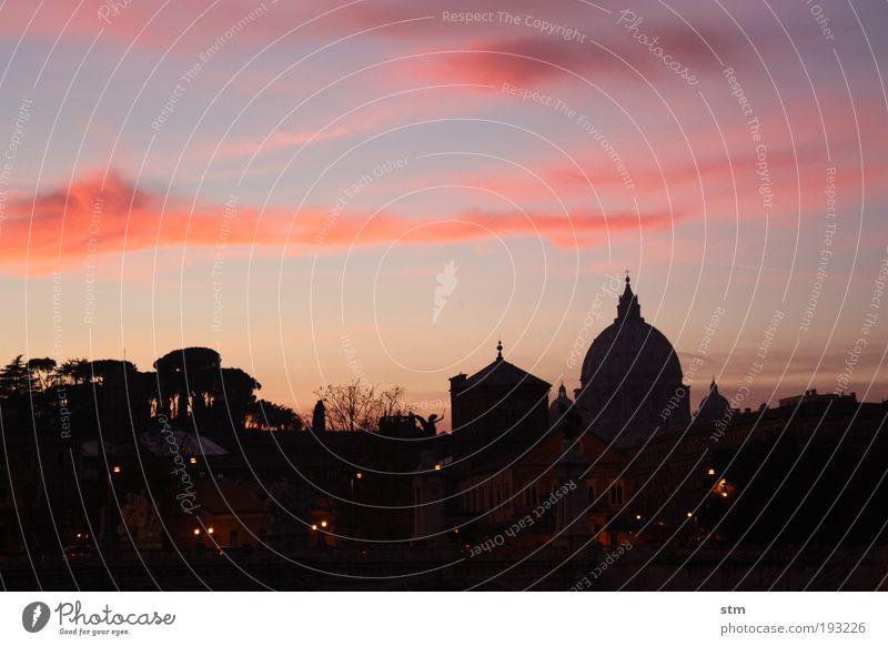 vedo la santità der cupolone.... Himmel Stadt schön rot Ferien & Urlaub & Reisen Gefühle Architektur Stimmung Horizont rosa Tourismus außergewöhnlich Kirche