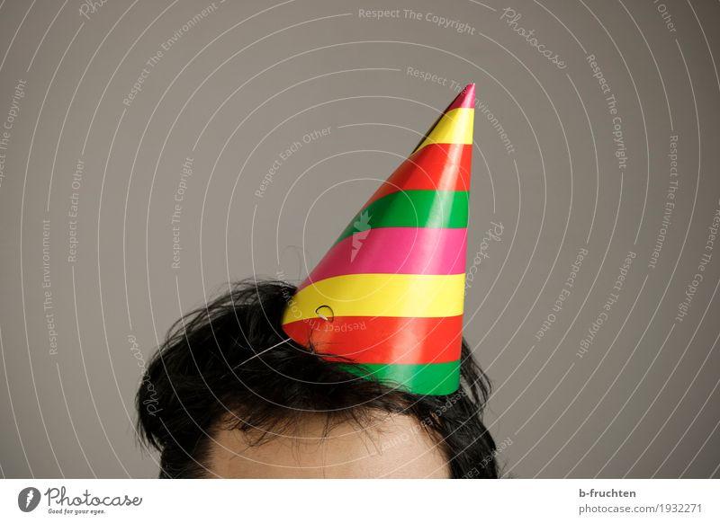 Helau und ... Nachtleben Party Veranstaltung Feste & Feiern Tanzen Karneval maskulin Mann Erwachsene Kopf Haare & Frisuren 30-45 Jahre Hut schwarzhaarig stehen