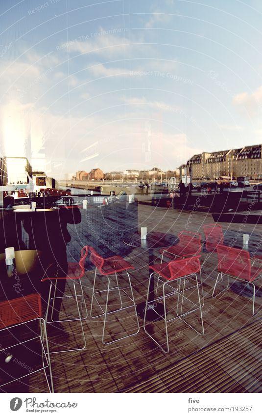 openairbar Himmel Wolken Kopenhagen Dänemark Stadt Hauptstadt Stadtrand Bauwerk Gebäude Fenster Erholung genießen hängen hocken Bar Restaurant Theke Gastronomie