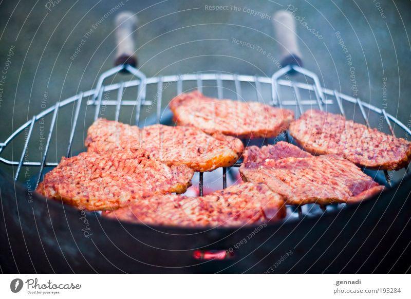 Fleisches Lust Ernährung Lebensmittel heiß genießen Rauch lecker Grillen saftig Wurstwaren Glut Grillrost Steak Grillsaison Steakhouse