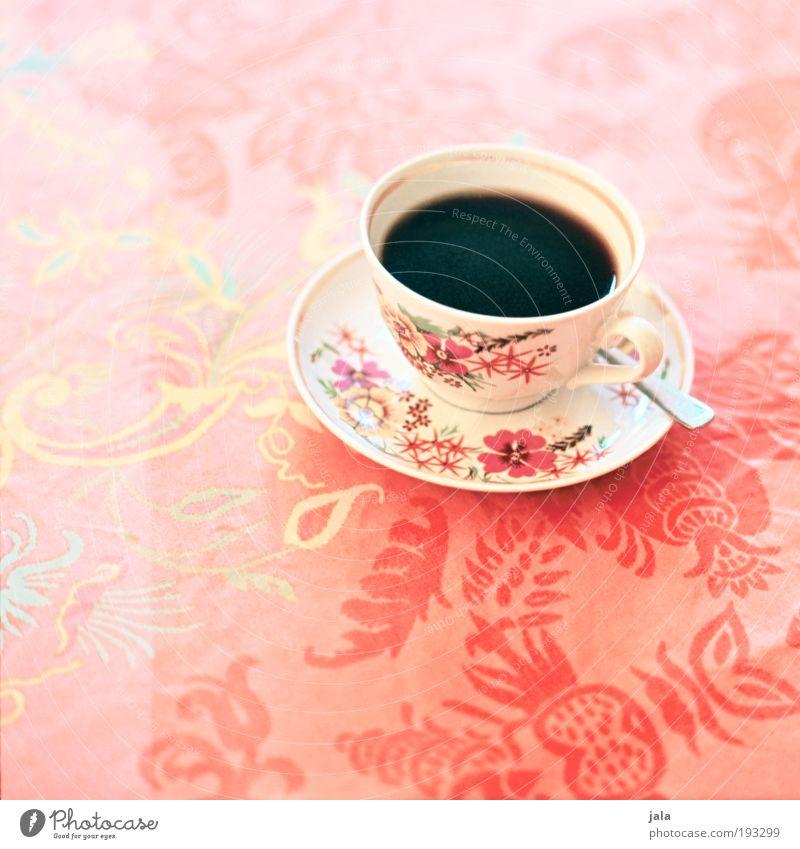 ... cup of coffee? :-) schön Ernährung Lebensmittel Getränk Kaffee retro gut heiß Geschirr Tasse Besteck Löffel Mittelformat Pastellton Kaffeetrinken