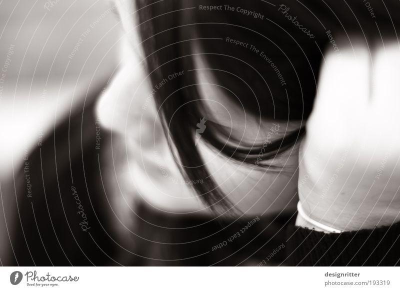 Denkmal Frau Mensch Jugendliche ruhig feminin Glück träumen Haare & Frisuren Denken Zufriedenheit warten Erwachsene Kommunizieren authentisch weich