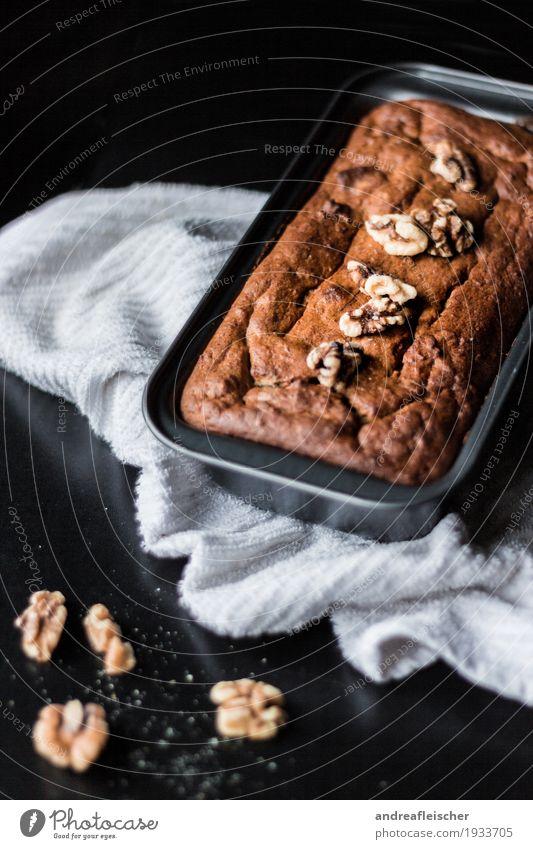 Bananenbrot ohne extra Fett und Zucker Lebensmittel Teigwaren Backwaren Brot Kuchen Ernährung Frühstück Kaffeetrinken Bioprodukte Vegetarische Ernährung