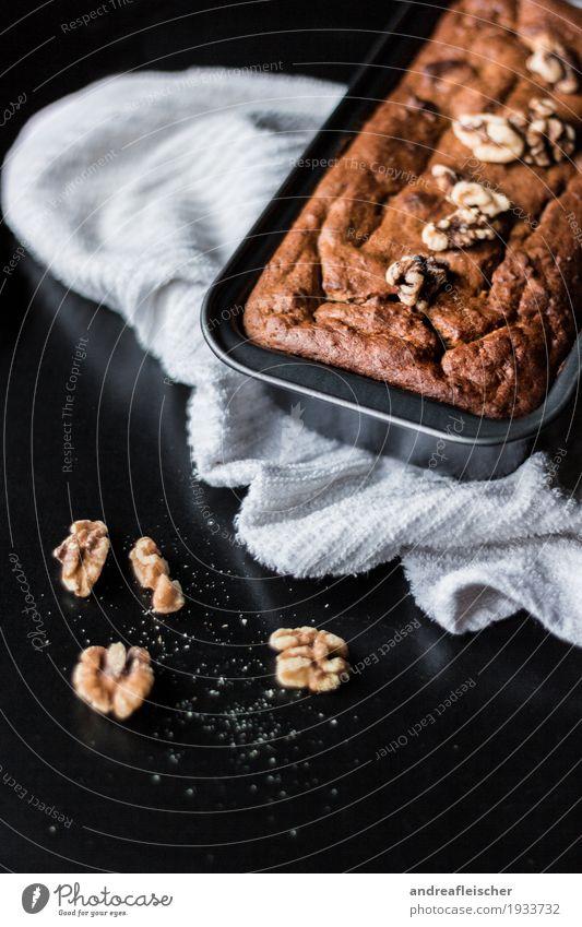 Bananenbrot ohne extra Fett und Zucker Lebensmittel Gemüse Teigwaren Backwaren Ernährung Frühstück Kaffeetrinken Bioprodukte Vegetarische Ernährung Gesundheit