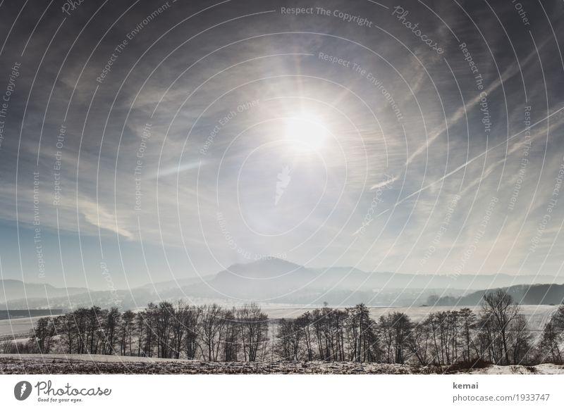 Wintersonne Himmel Natur Pflanze Landschaft Baum Erholung Wolken ruhig Ferne Berge u. Gebirge Umwelt Schnee Freiheit Ausflug wandern