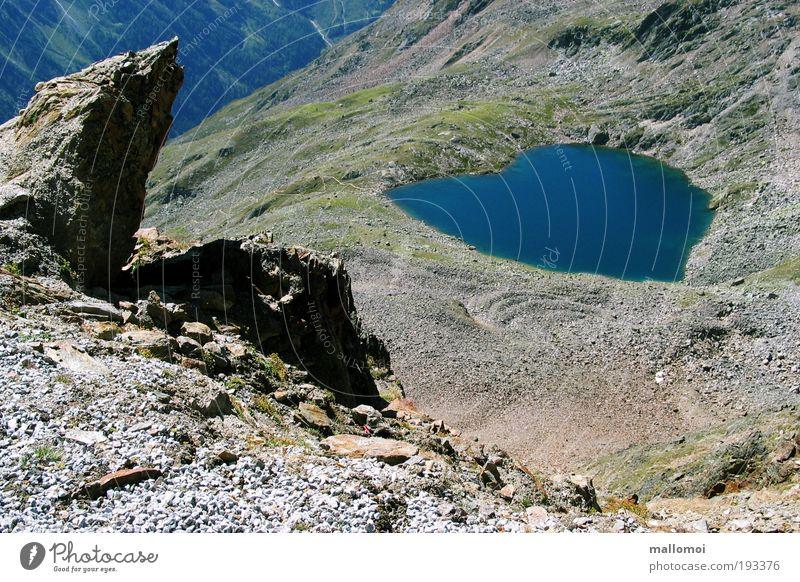 c my love Natur Wasser blau Sommer Ferien & Urlaub & Reisen ruhig Umwelt Berge u. Gebirge Landschaft See Herz nass Felsen Klima Hoffnung Urelemente