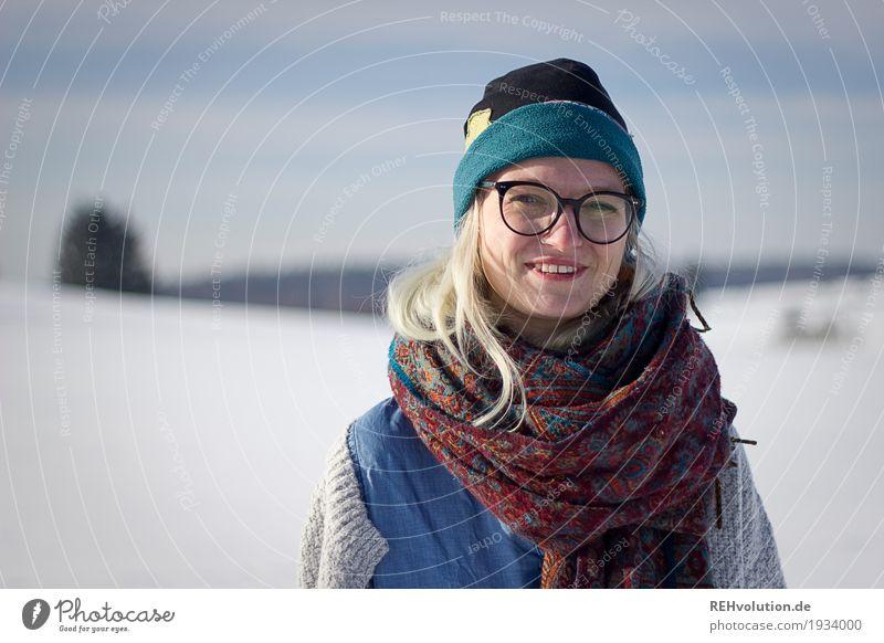 Jule | im Winter Freizeit & Hobby Ausflug Mensch feminin Junge Frau Jugendliche Erwachsene Gesicht 1 18-30 Jahre Umwelt Natur Landschaft Schönes Wetter Schnee