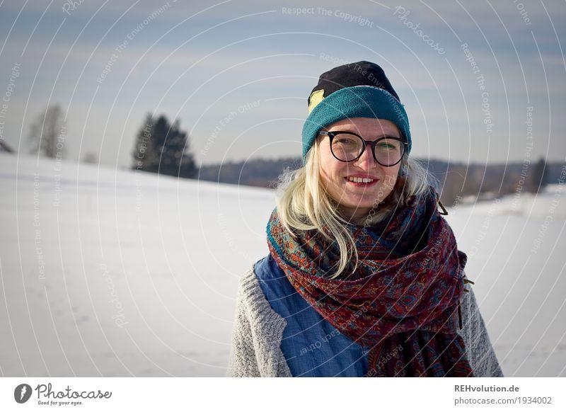 Jule | Winterportrait Stil Freizeit & Hobby Mensch feminin Junge Frau Jugendliche Erwachsene Gesicht 1 18-30 Jahre Umwelt Natur Landschaft Himmel Schönes Wetter