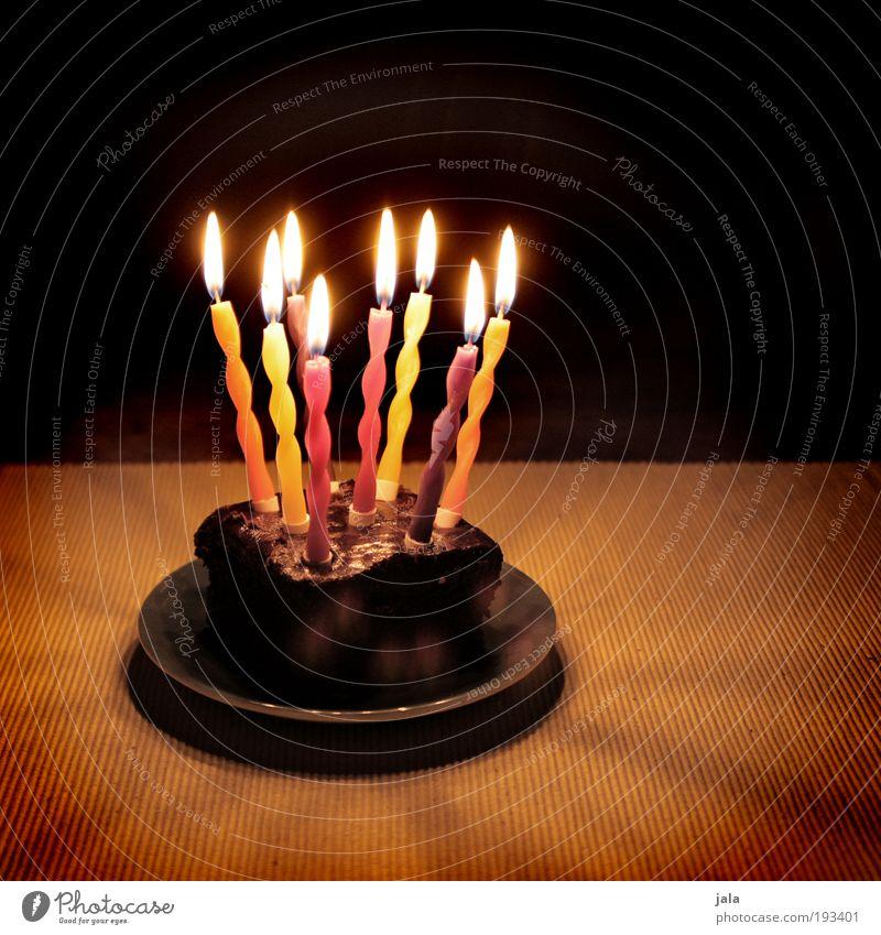 Happy Birthday Frank :-) Freude dunkel Glück Feste & Feiern Lebensmittel Dekoration & Verzierung Geburtstag Fröhlichkeit Lebensfreude Geschenk Feuer Kerze Überraschung Kuchen Teller Flamme
