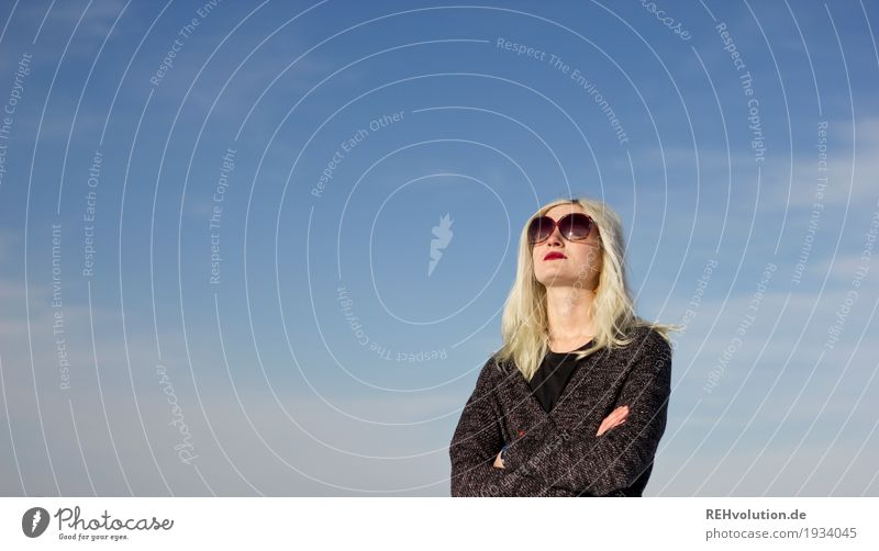 Jule | mit Himmel Stil Design Lippenstift Mensch feminin Junge Frau Jugendliche Erwachsene Gesicht 1 18-30 Jahre Kultur Jugendkultur Subkultur Wolken Mode