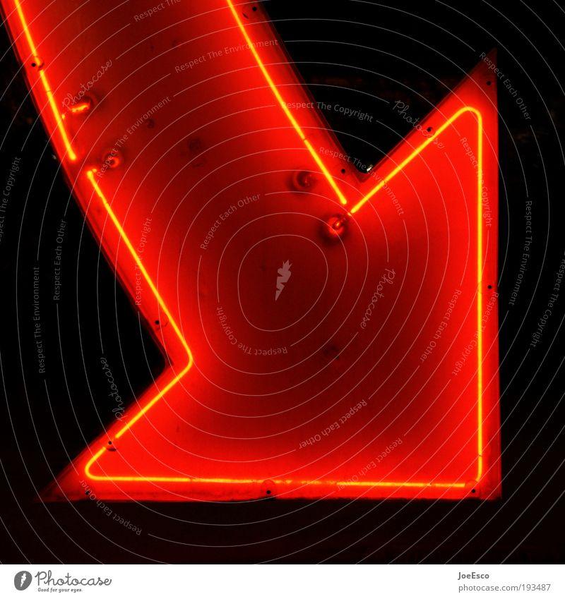 come in and find out... schön dunkel Stil Wärme Lampe Bar leuchten Pfeil Freundlichkeit Neonlicht Entertainment Symbole & Metaphern Nachtleben Laster Kneipe