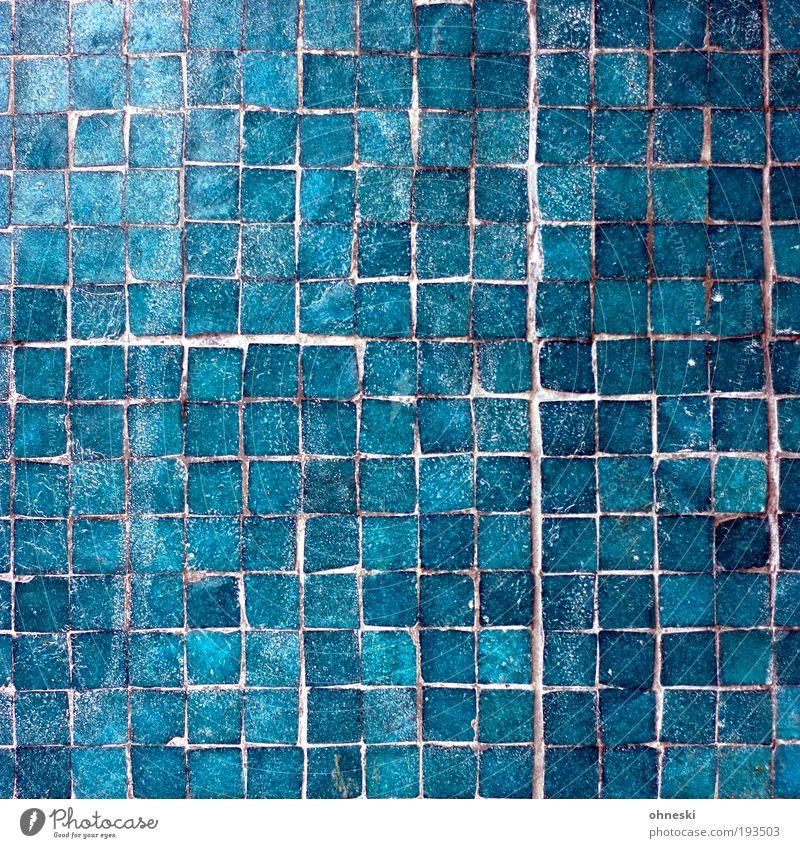 Plattentektonik blau Haus Wand Mauer Gebäude Architektur Fassade Schwimmbad Fliesen u. Kacheln Handwerk Bauwerk türkis Licht Produktion Muster