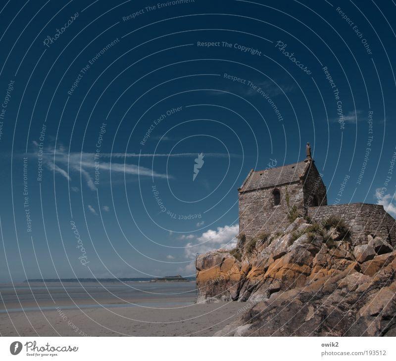 St. Aubert Umwelt Natur Landschaft Sand Wasser Himmel Wolkenloser Himmel Horizont Sommer Klima Schönes Wetter Küste Meer Atlantik Ebbe Mont St.Michel Normandie