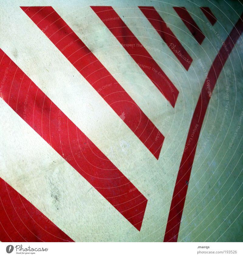 Strichweise elegant Design Verkehr Zeichen Schilder & Markierungen Linie Streifen außergewöhnlich rund rot Kreativität Optimismus Ordnung Grafik u. Illustration