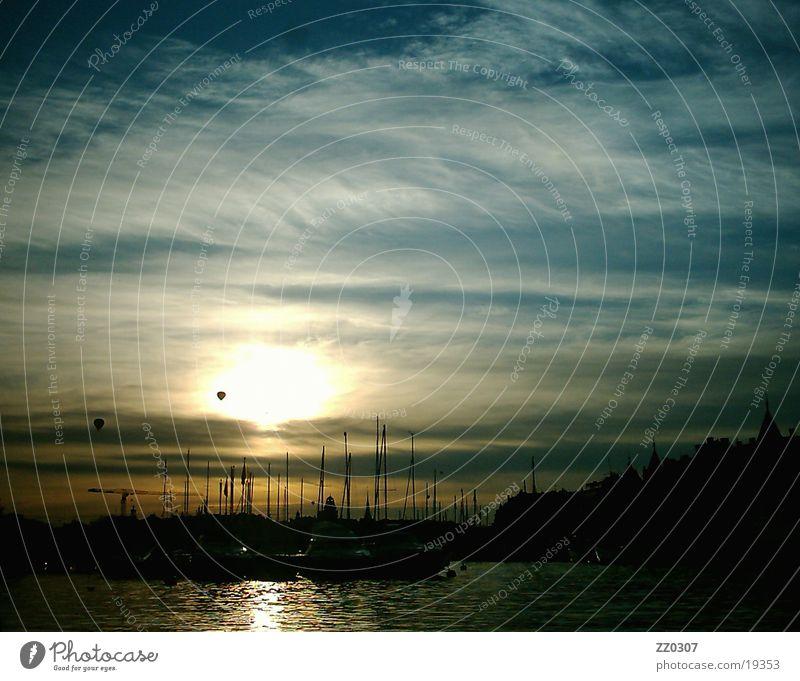 stockholm1 Stockholm Wolken Sonnenuntergang Europa Schweden Wasser